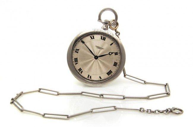 327: A Platinum Pocket Watch, Cartier,