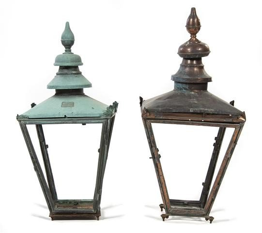 15: Two English Street Lanterns, Height 40 inches.
