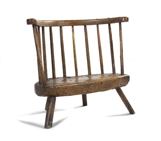 17A: An Early English Windsor Back Chair, Height 24 x w