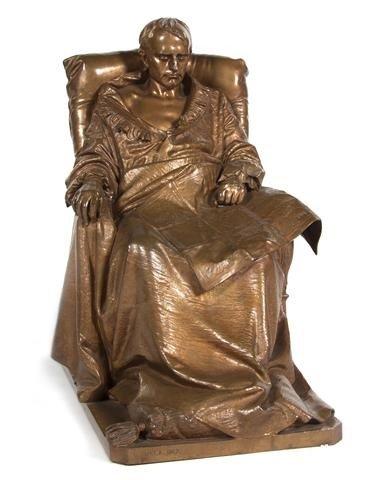 298: A French Gilt Bronze Figure, Vincenzo Vela (Italia