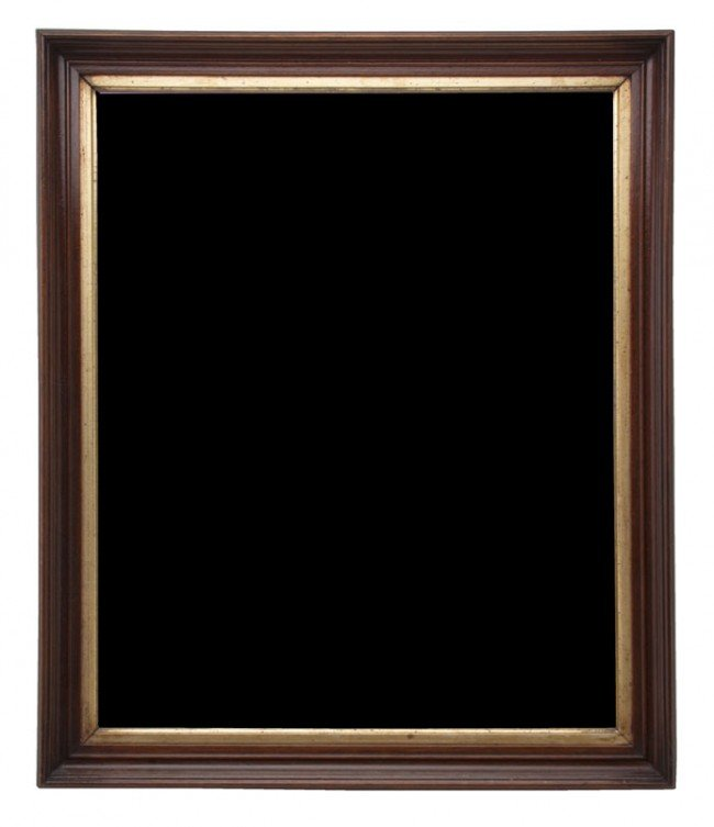 614: An American Mahogany and Parcel Gilt Frame, Height