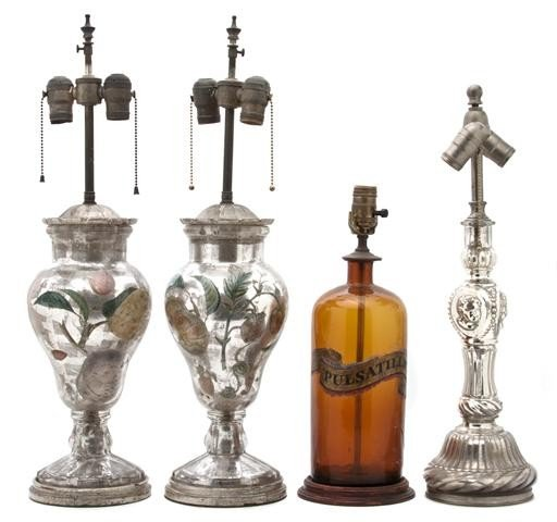 617: A Pair of Mercury Glass Vases, Height of pair 14 i