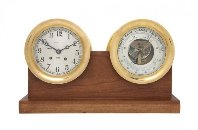 618: A Chelsea Clock and Barometer Set, retailed by Abe