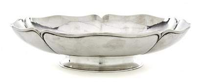 696: An American Arts and Crafts Sterling Silver Footed
