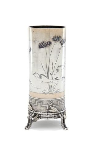 735: An American Sterling Silver Vase, Tiffany & Co., H