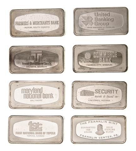 747: A Set of Fifty Franklin Mint Sterling Silver Ingot