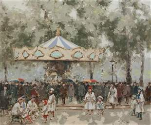 262: Andre Gisson, (American, 1921-2003), The Carousel