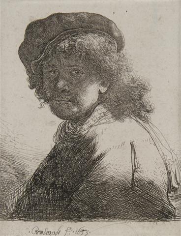 391: Rembrandt van Rijn, (Dutch, 1606-1669), Rembrandt