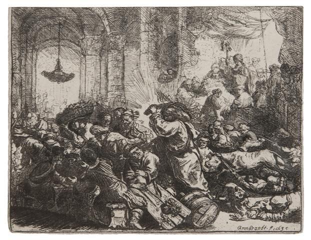 392: Rembrandt van Rijn, (Dutch, 1606-1669), Christ Dri