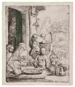 393: Rembrandt van Rijn, (Dutch, 1606-1669), Abraham En