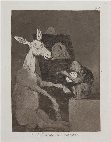 394: Francisco de Goya, (Spanish, 1746-1828), Ni mas ni