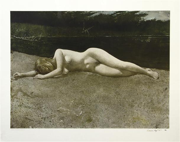 400: Andrew Wyeth, (American, 1917-2009), Black Water