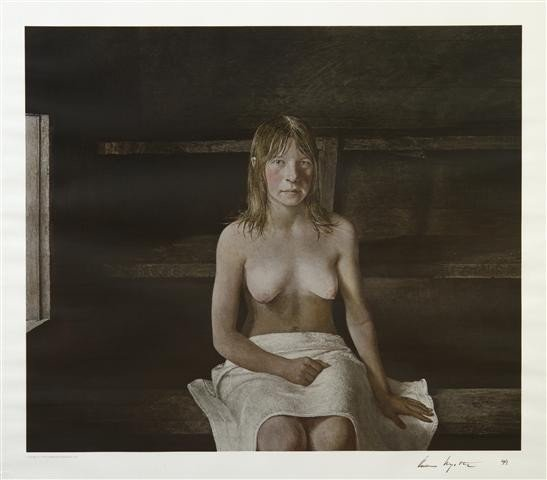 401: Andrew Wyeth, (American, 1917-2009), The Sauna