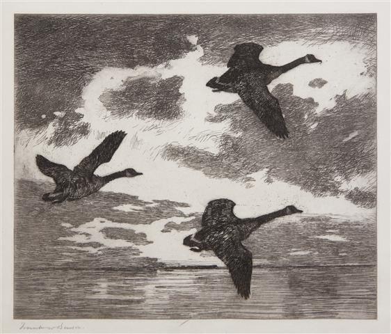 403: Frank Weston Benson, (American, 1862-1951), Clouds