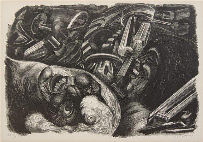 405: Jose Clemente Orozco, (Mexican, 1883-1949), Study