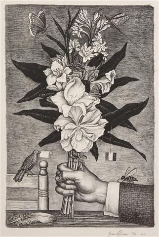 409: Juan O'Gorman, (Mexican, 1905-1982), Bouquet of Fl