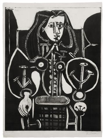 464: Pablo Picasso, (Spanish, 1881-1973), Femme au Faut