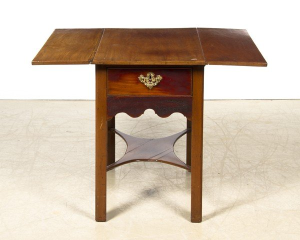 11: A George III Mahogany Pembroke Table, Height 26 x w