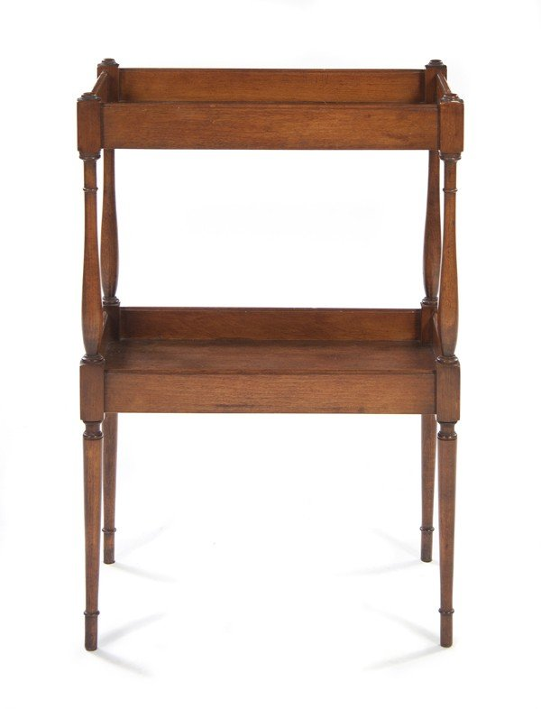 18: An American Mahogany Two-Tier Side Table, Conant-Ba