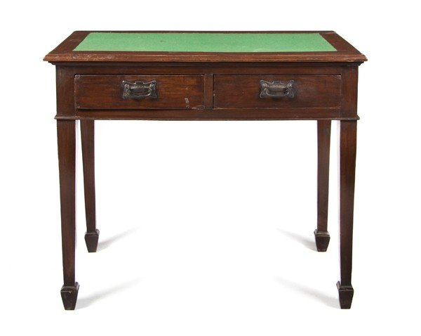 24: A George III Style Mahogany Writing Table, Height 3