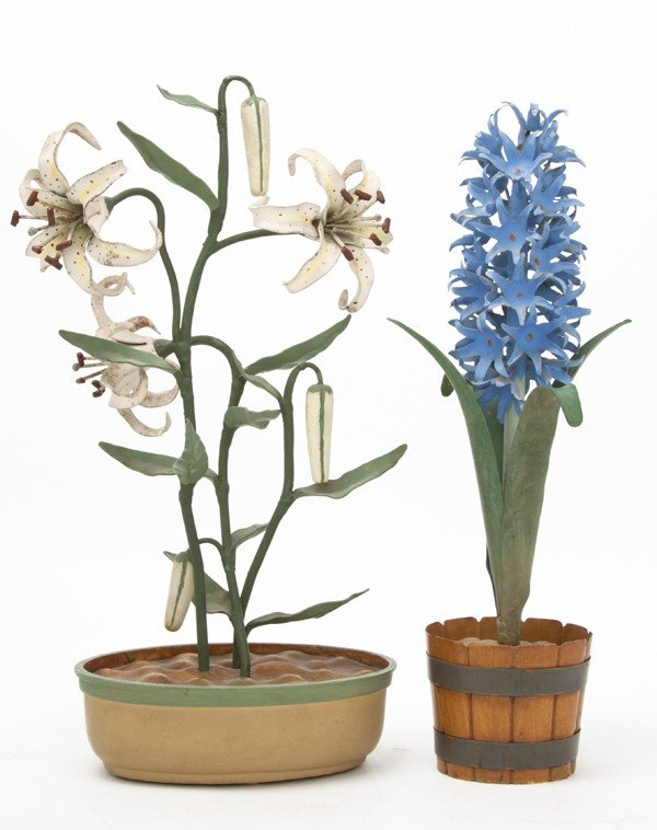 148: Two Tole Models of Flowering Plants, Height of tal