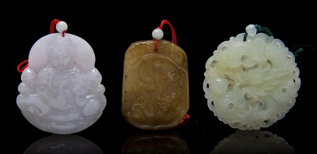 480: A Group of Carved Jade and Hardstone Articles, Len