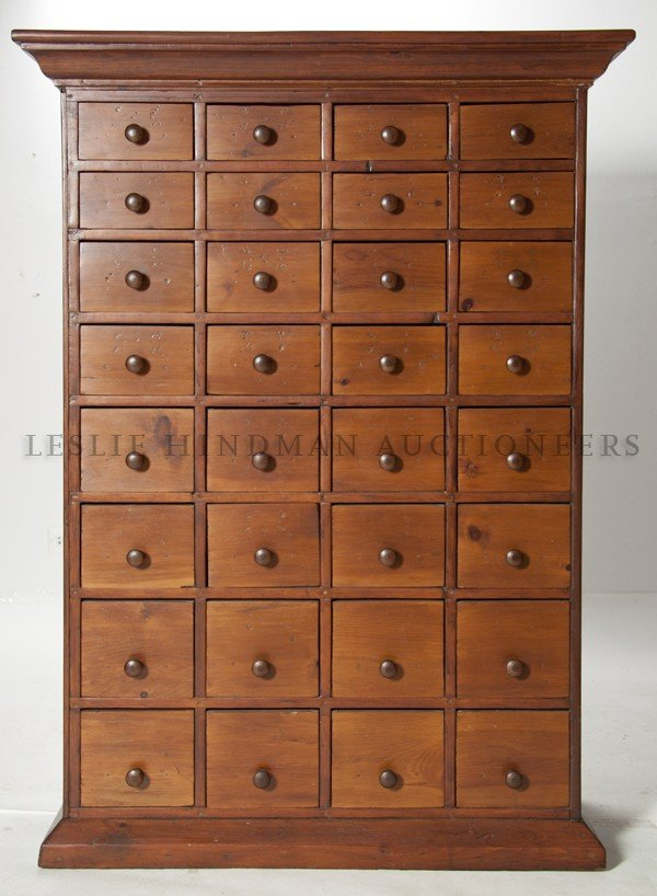 489: A Chinese Medicine Chest, Height 57 1/4 x width 41