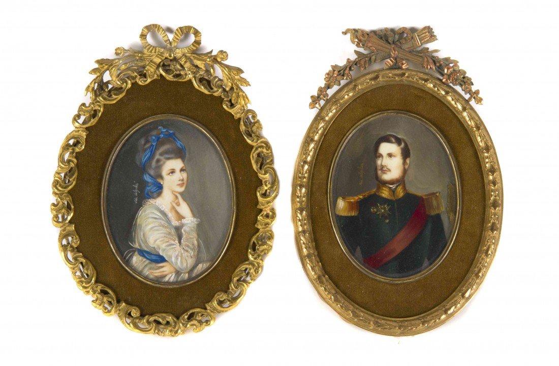 6: A Pair of Italian Portrait Miniatures, Ida Calzolari