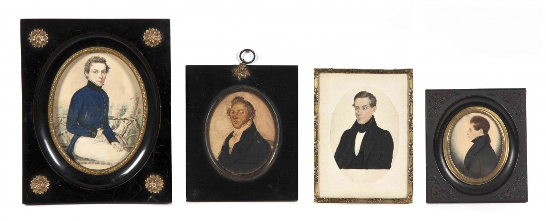 7: Four Watercolor Portrait Miniatures, Height of talle