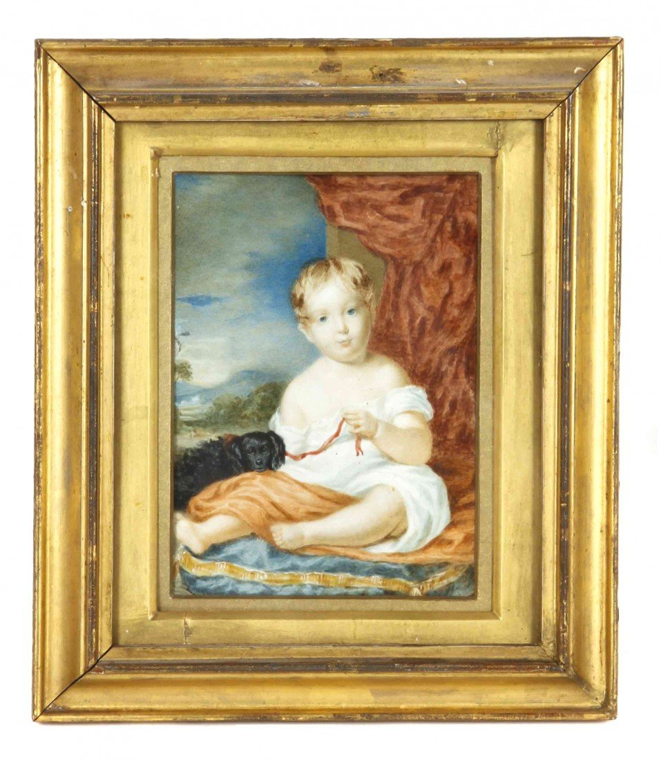 8: An English Portrait Miniature of a Child, Height 5 1