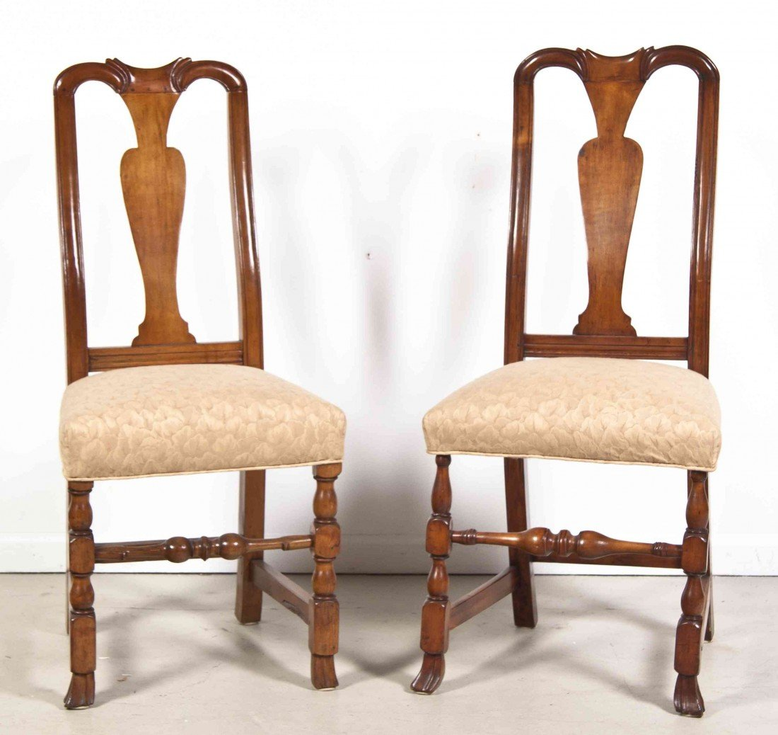2020: An Assembled Pair of American Side Chairs, Height