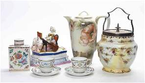2186 A Collection of Continental Porcelain Articles H
