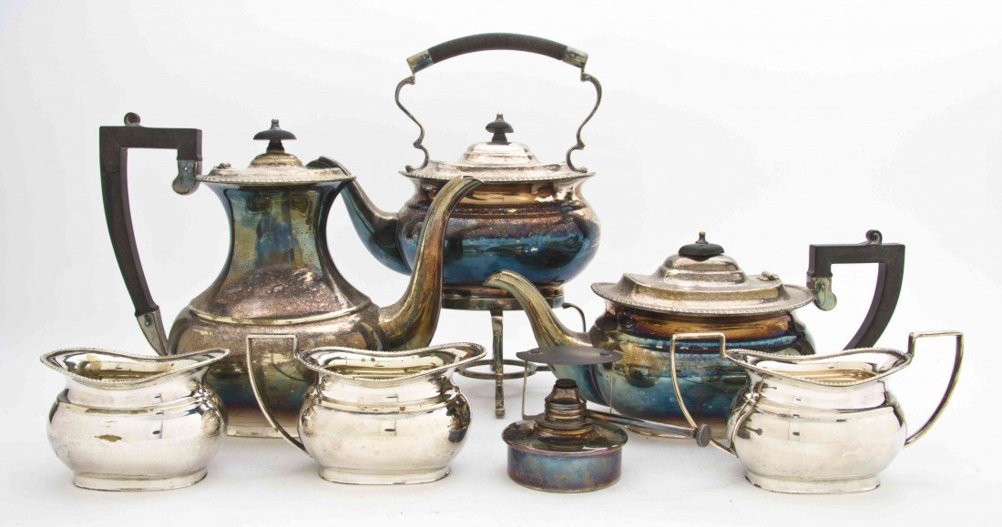2484: A Sheffield Silverplate Tea and Coffee Service, C