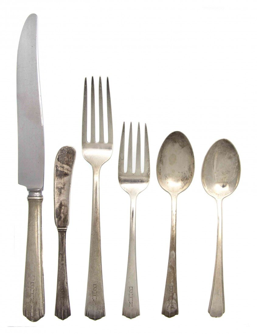 2486: A Partial Set American Sterling Silver Flatware,