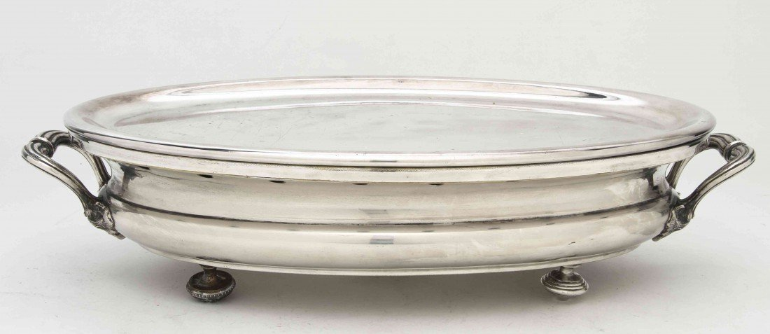 2490: A French Silverplate Warming Tray, Christofle, Wi
