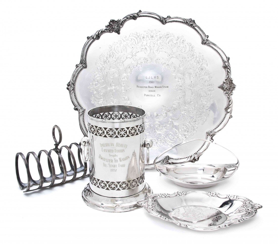 2492: A Collection of Silverplate Serving Articles, Wid