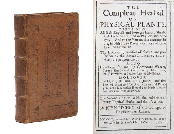 4: PECHEY, JOHN. The Compleat Herbal of Physical Plants