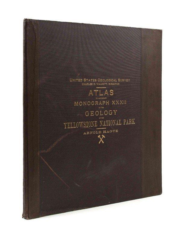 23: (ATLAS) HAGUE, ARNOLD. Atlas to Accompany Monograph