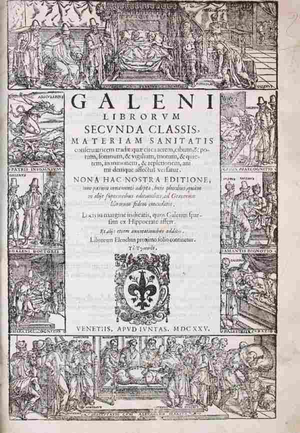 GALENUS, (CLAUDIUS) Opera ex nona Juntarum edition