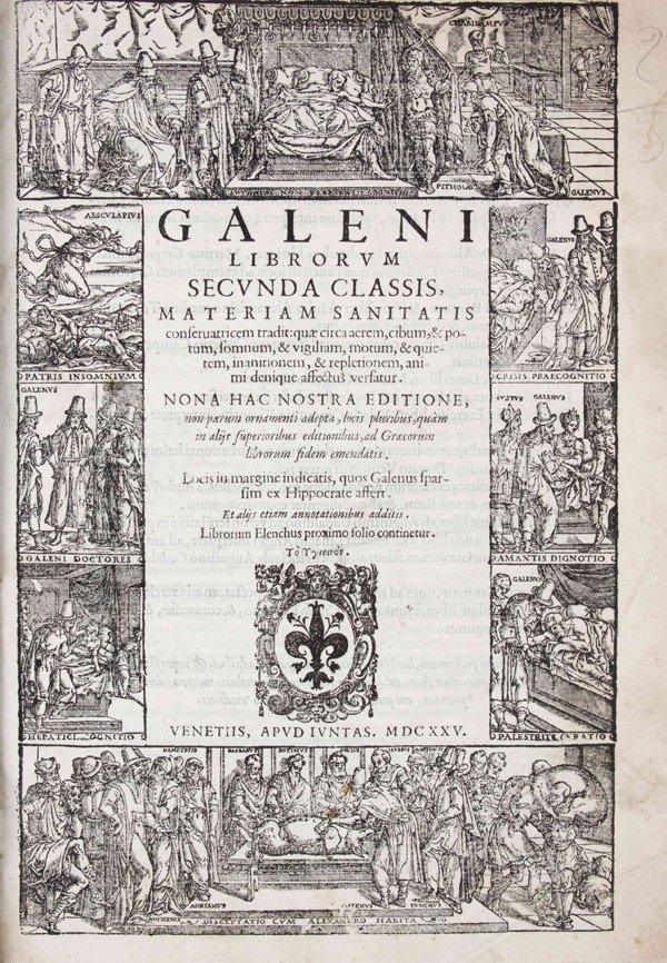 119: GALENUS, (CLAUDIUS) Opera ex nona Juntarum edition