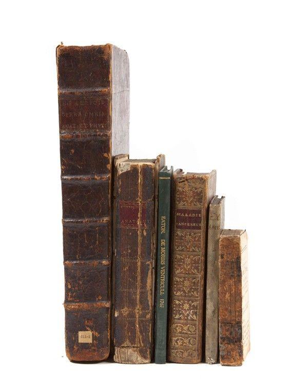 152: (MEDICINE)  A group of six eighteenth-century book