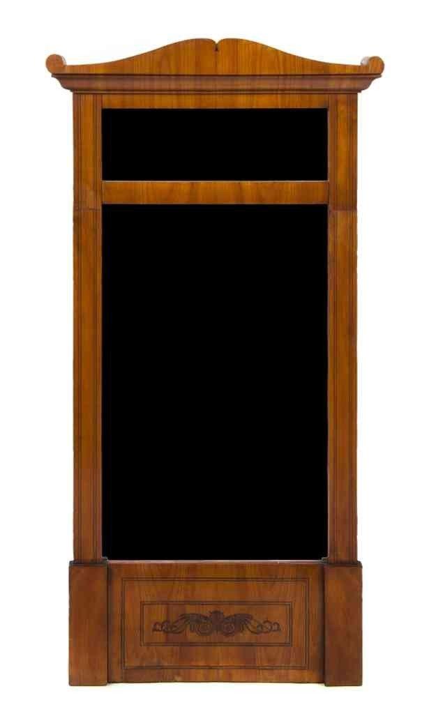 5: A Biedermeier Birch Mirror, Height 56 x width 29 inc