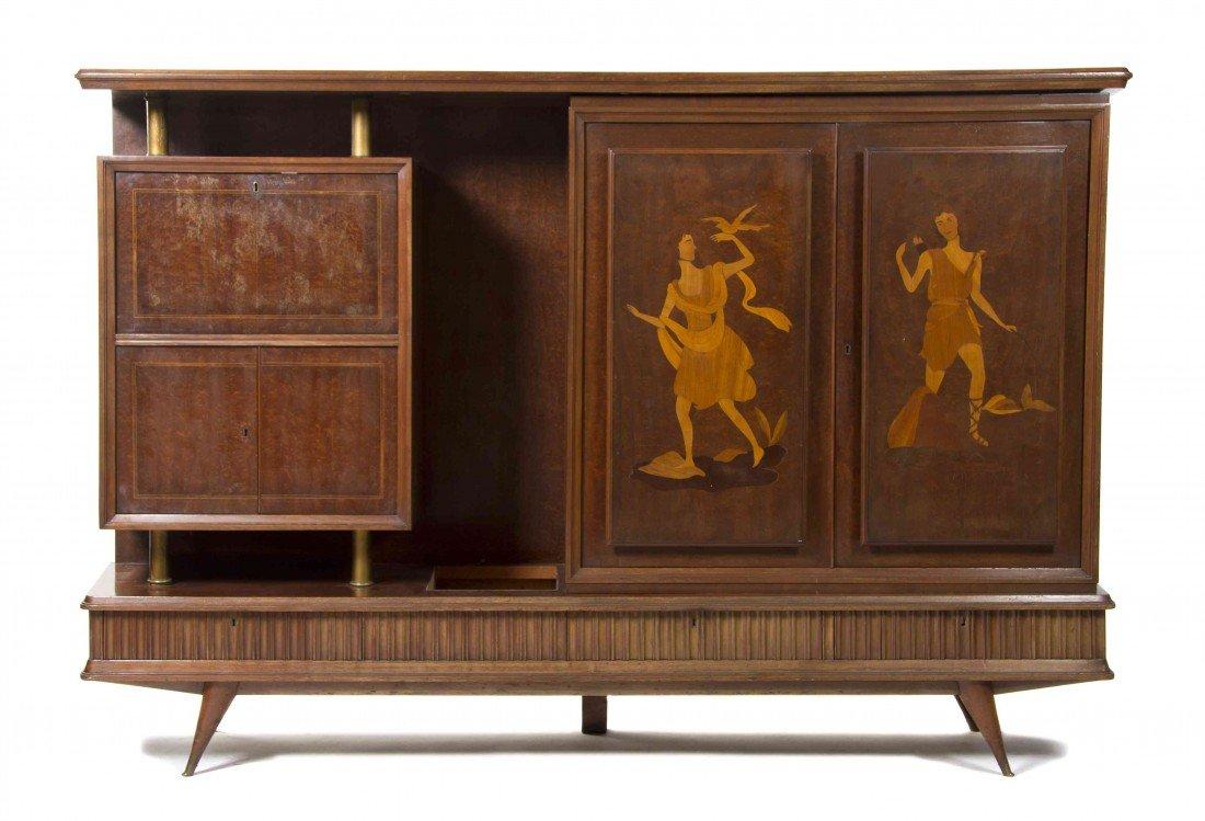 498: An Italian Art Deco Sideboard, Height 62 x width 8