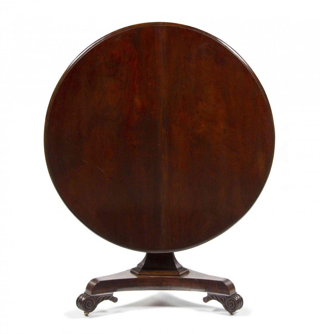 502: An English Mahogany Breakfast Table, Height 30 x w
