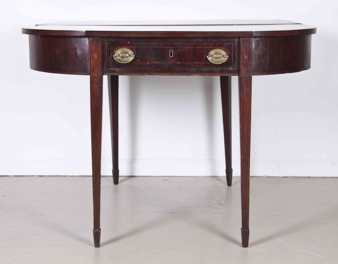 511: A George III Style Mahogany Flip-Top Games Table,
