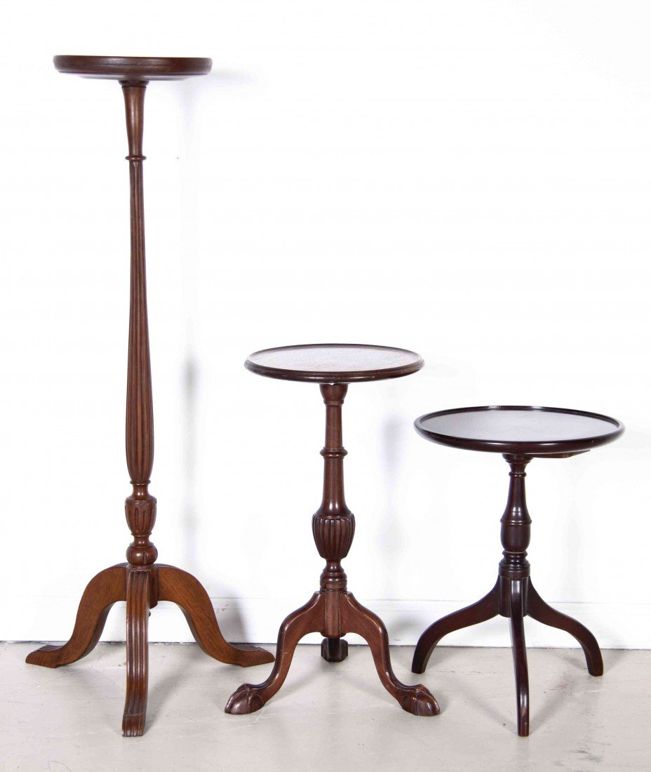 513: A Group of Three Candlestands, Height of tallest 3
