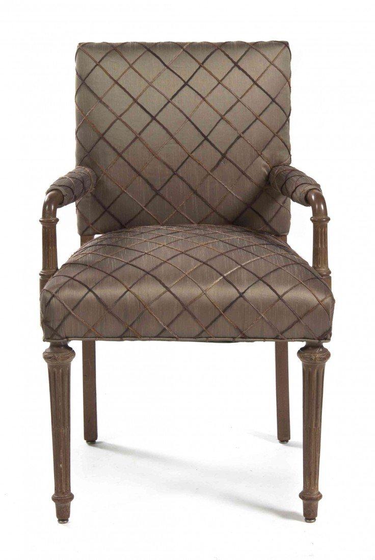 517: An Art Deco Open Armchair, Height 35 1/2 inches.