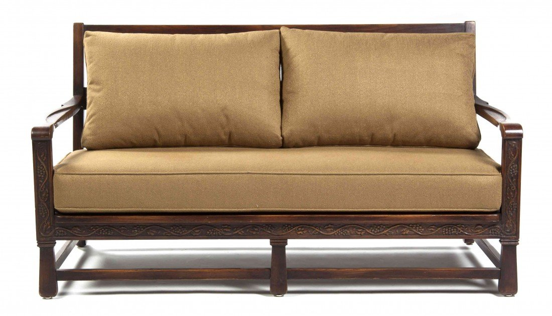 519: An American Arts and Crafts Settee, Rom Webber, Wi