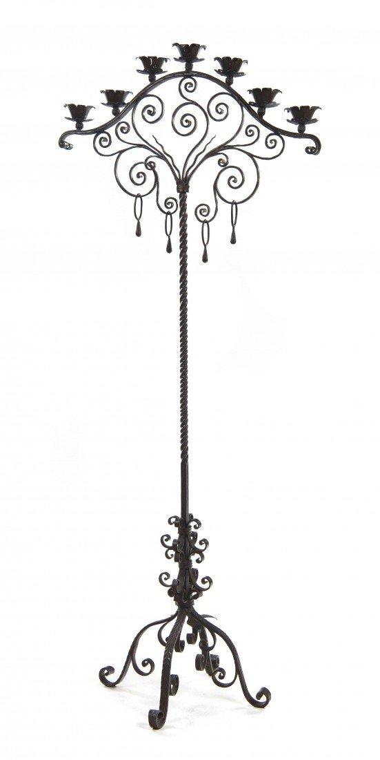 522: A Renaissance Revival Wrought Iron Seven-Light Tor
