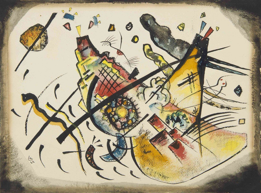 13: Wassily Kandinsky, (Russian, 1866-1944), Compositio